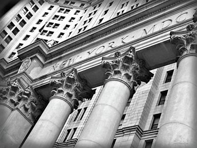 Digital Art - New York Structure by Joan  Minchak