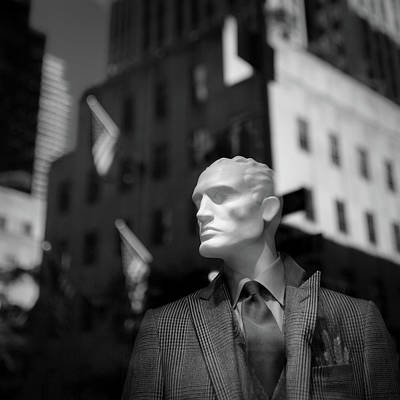 Black Man Face Photograph - New York Style by Dave Bowman