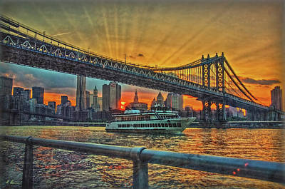 Photograph - New York Sunset Cruise by Hanny Heim