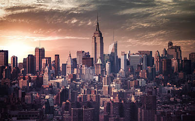 Cities Digital Art - New York by Super Lovely