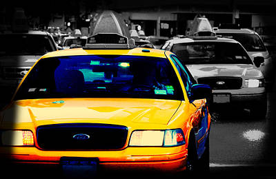 New York Taxi Art Print by Christopher Woods