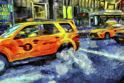 Photograph - New York Taxis Art by David Pyatt