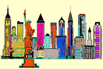 Digital Art - New York - The Big City by Rafael Salazar