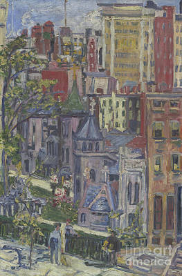 New York  The Little Church Around The Corner, 1920 Art Print by Dorothea Adelheid Dreier