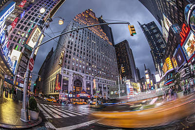 Photograph - New York Time Square  by Juergen Held
