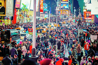 Photograph - New York Times Square by Alexander Image