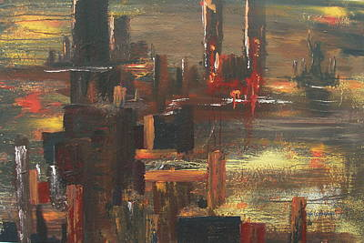 New York Tragedy Art Print by Miroslaw  Chelchowski