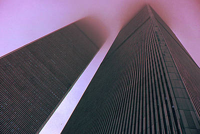 Photograph - New York Twin Towers - World Trade Center Before 911 by Art America Gallery Peter Potter