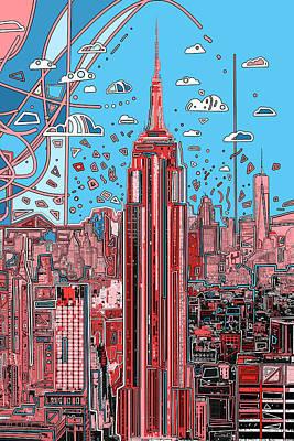 Digital Art - New York Urban Colors 2 by Bekim Art