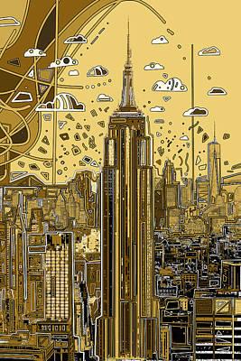 Digital Art - New York Urban Colors 3 by Bekim Art