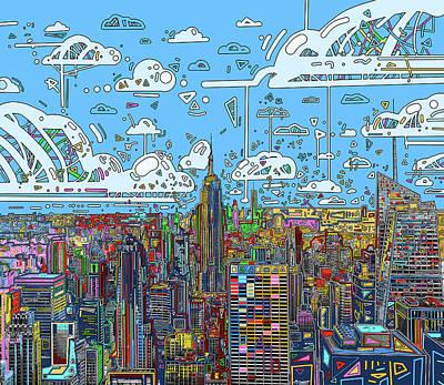 Digital Art - New York Urban Colors 4 by Bekim Art