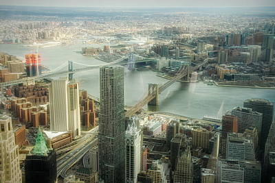 Photograph - New York View Of East River by Dyle Warren