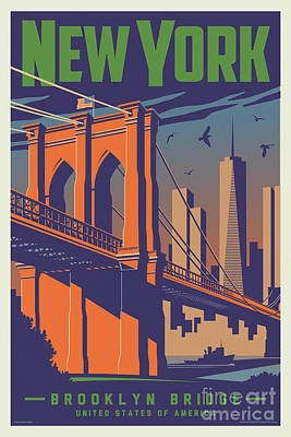 Digital Art - New York Vintage Travel Poster by Jim Zahniser