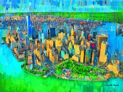 Oceans 11 Digital Art - New York Vision - Da by Leonardo Digenio