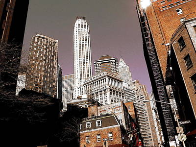 Poster Drawing - New York Wall Street Architecture by Art America Online Gallery