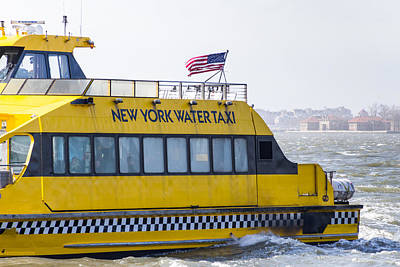 Photograph - New York Water Taxi by SR Green