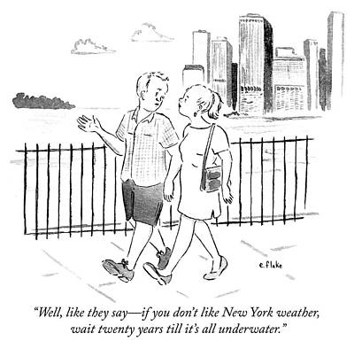 Drawing - New York Weather by Emily Flake