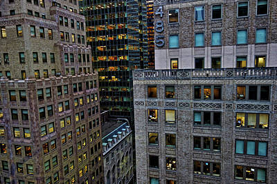 Art Print featuring the photograph New York Windows by Joan Reese