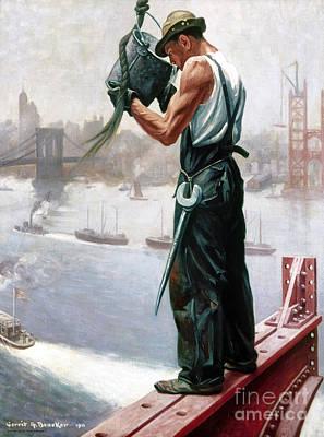 Photograph - New York: Worker, 1911 by Granger