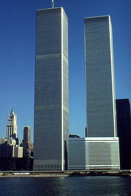 Photograph - New York World Trade Center Before 911 by Art America Gallery Peter Potter