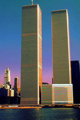Photograph - New York World Trade Center Before 911 - Pop Art by Peter Potter