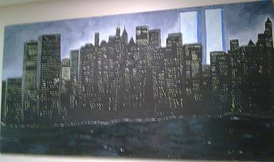 Painting - New York World Trade Never Forgotten by Helen Vanterpool