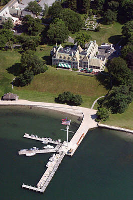 Photograph - New York Yacht Club Harbour Court 5 Halidon Avenue Newport Ri 02840 3815 by Duncan Pearson
