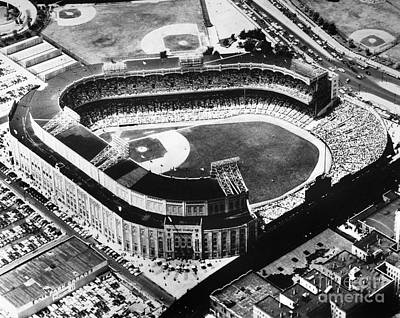 Yankee Stadium Photograph - New York: Yankee Stadium by Granger
