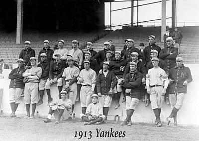 Photograph - New York Yankees 1913 by Rospotte Photography