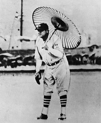 New York Yankees. Babe Ruth, Holding Art Print
