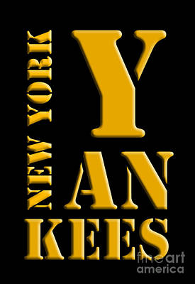 New York Yankees Digital Art - New York Yankees Black And Yellow by Pablo Franchi