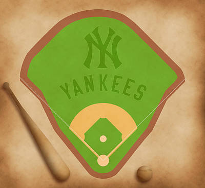 Babe Ruth Digital Art - New York Yankees Field by Carl Scallop