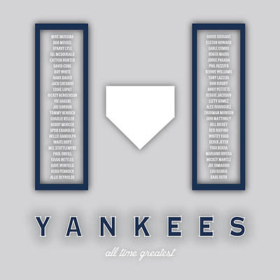 Mlb Digital Art - New York Yankees Art - Mlb Baseball Wall Print by Damon Gray