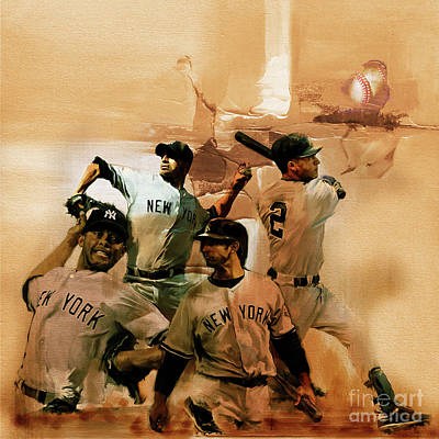 Baseball Cap Painting - New York Yankees  by Gull G