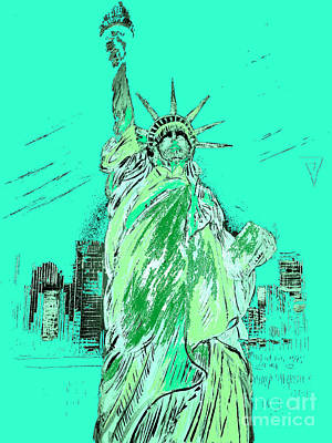 Mixed Media Royalty Free Images - New York  Royalty-Free Image by Yelena Wilson