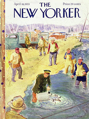 Painting - New Yorker April 18 1953 by Garrett Price