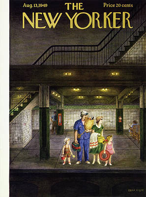 Painting - New Yorker August 13 1949 by Edna Eicke
