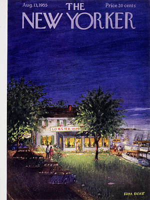 Painting - New Yorker August 13 1955 by Edna Eicke