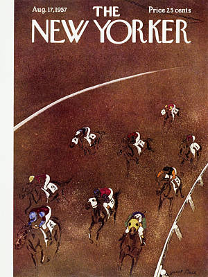 Race Painting - New Yorker August 17 1957 by Garrett Price