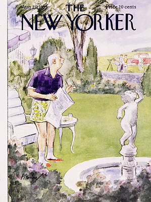 Painting - New Yorker August 20 1955 by Perry Barlow