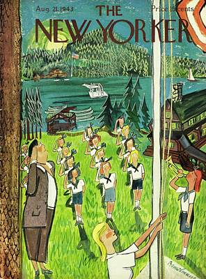 Drawing - New Yorker August 21 1943 by Ludwig Bemelmans