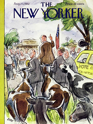 Painting - New Yorker August 23 1952 by Leonard Dove