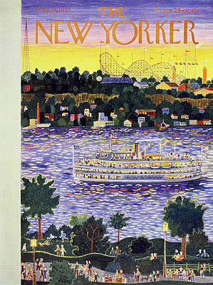 Leisure Time Painting - New Yorker August 31 1957 by Ilonka Karasz