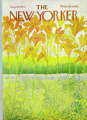 Ilonka-karasz-new-yorker-covers Drawing - New Yorker Cover August 26 1972  by Ilonka Karasz