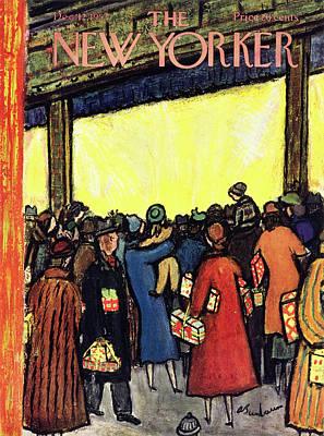 Painting - New Yorker December 12 1953 by Abe Birnbaum