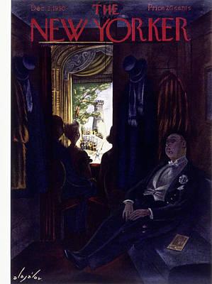 Painting - New Yorker December 2 1950 by Constantin Alajalov
