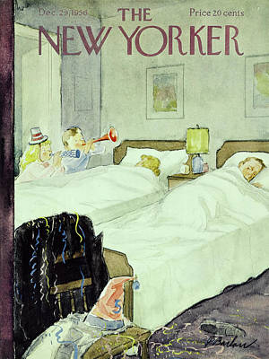 New Years Eve Painting - New Yorker December 29 1956painting by Perry Barlow