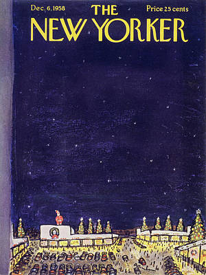 Abe Birnbaum Painting - New Yorker December 6 1958 by Abe Birnbaum