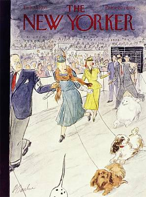 Painting - New Yorker February 12 1955 by Perry Barlow