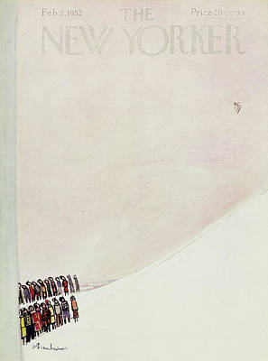 Audience Painting - New Yorker February 2 1952 by Abe Birnbaum